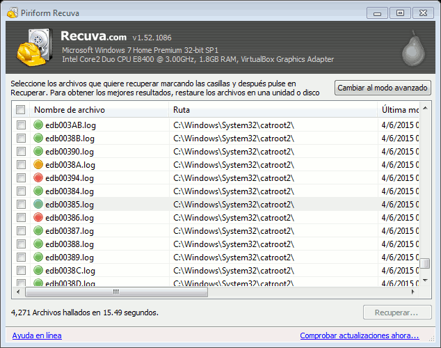 Recuva para Windows