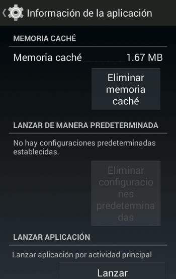 Eliminar memoria caché en Android