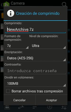 compresor de archivos para Android