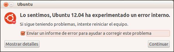 Informe de errores de Ubuntu
