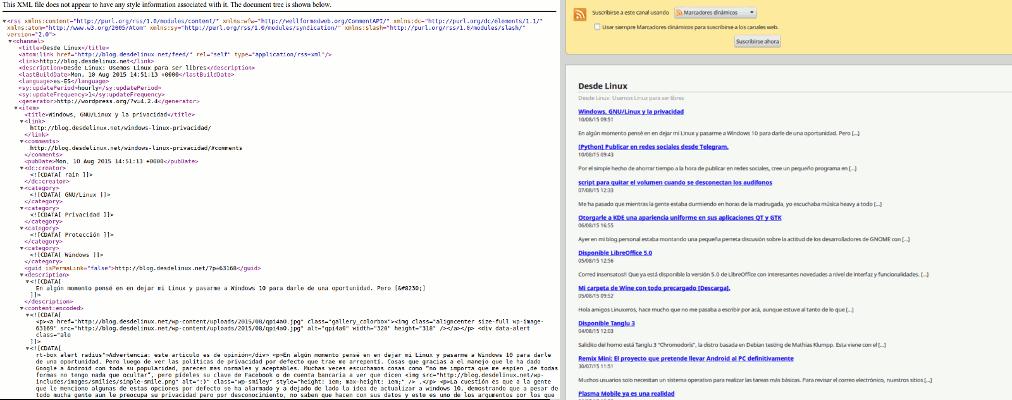Chrome RSS comparison