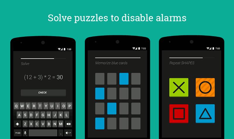 Puzzle Alarm Clock Android