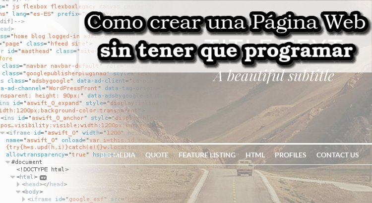 Como crear una página web sin programar
