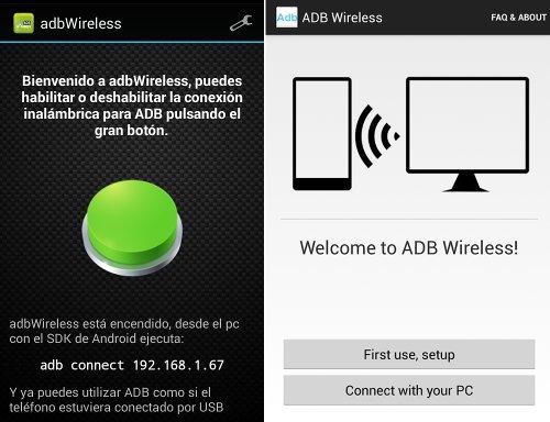 adbWireless y ADB Wireless (no-root) te permiten utilizar ADB sin necesidad de un USB.