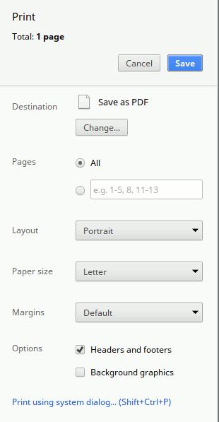 Guardar web como PDF en Google Chrome