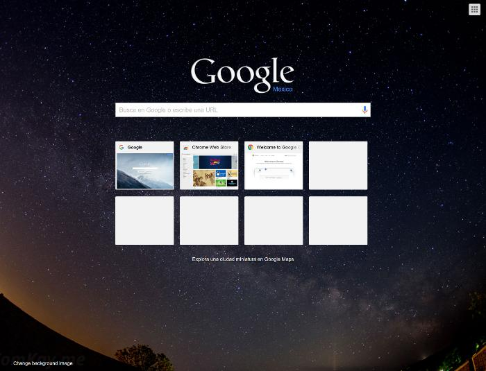 how to change google background custom