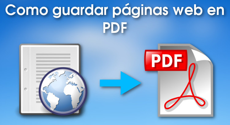 Como guardar páginas web como PDF