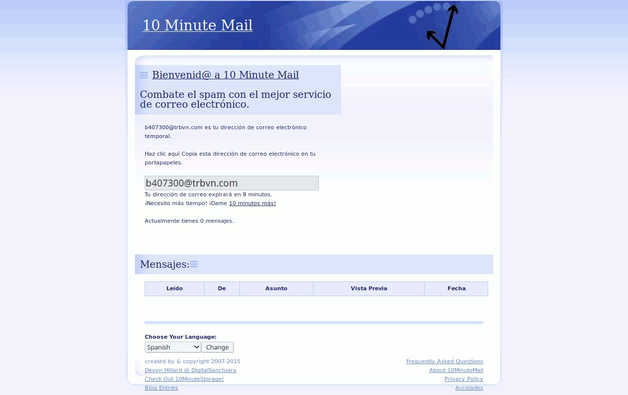 10 Minute Mail - Cuentas de correo temporales