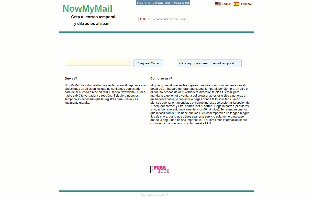 NowmyMail.com - Temporary Mail