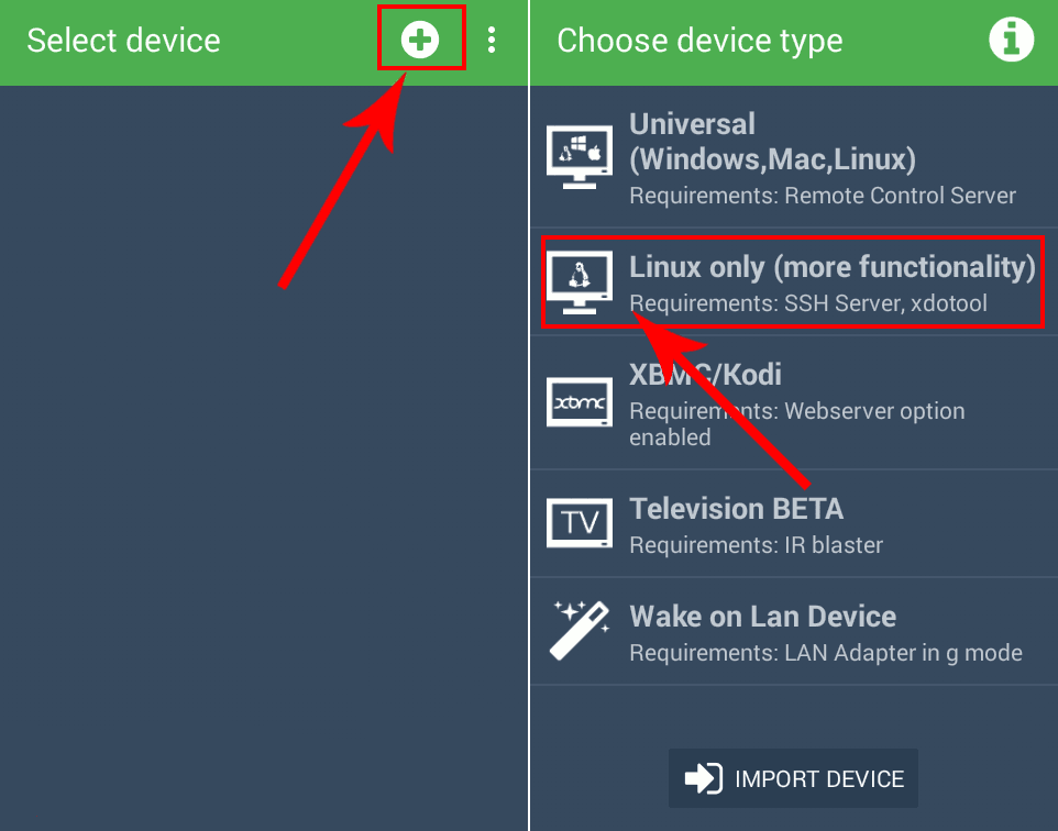 Home Remote Android Linux