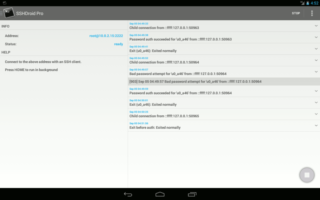 SSH Server on Android