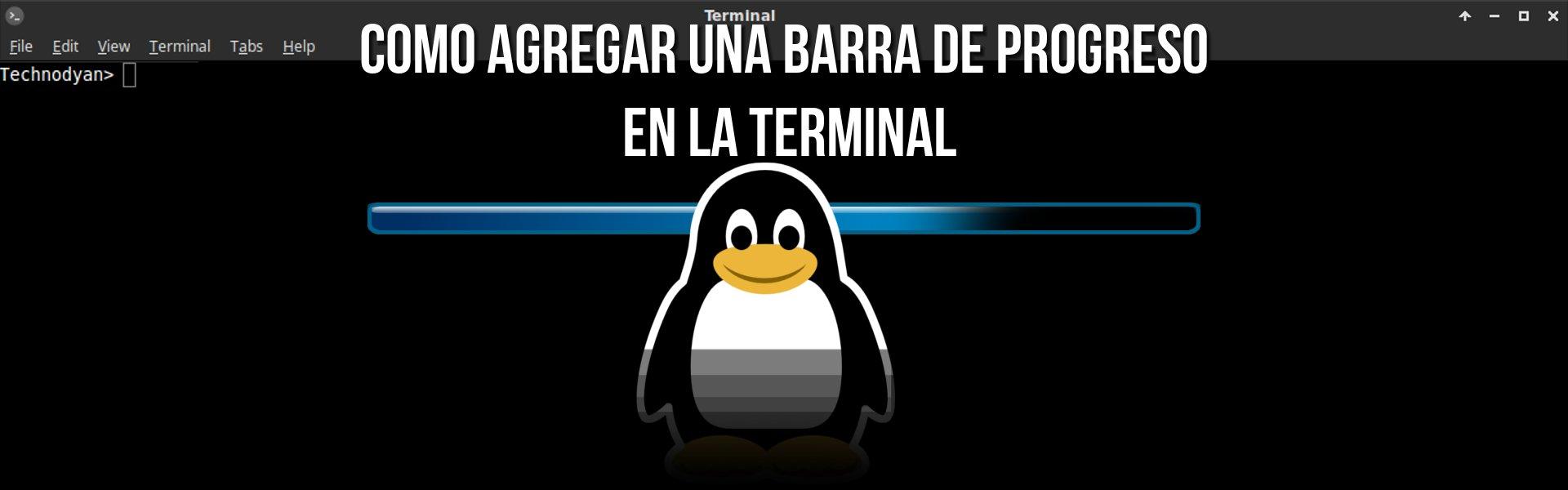 Barra de progreso Linux