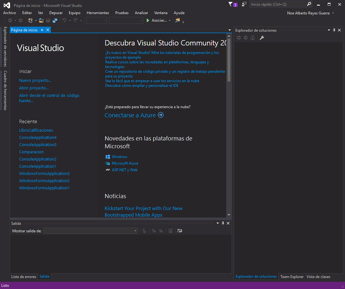 Visual Studio 2015 en Español