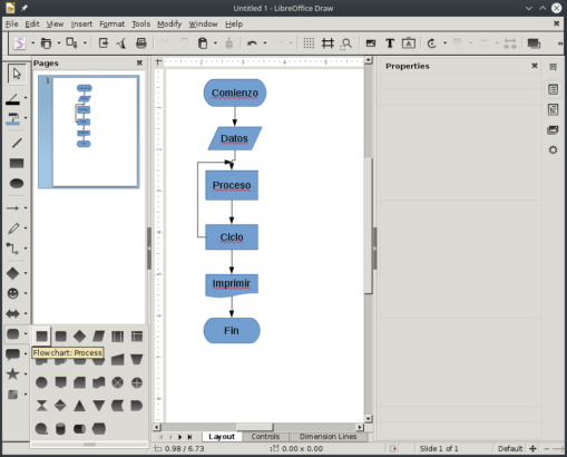 LibreOffice Draw Screenshot